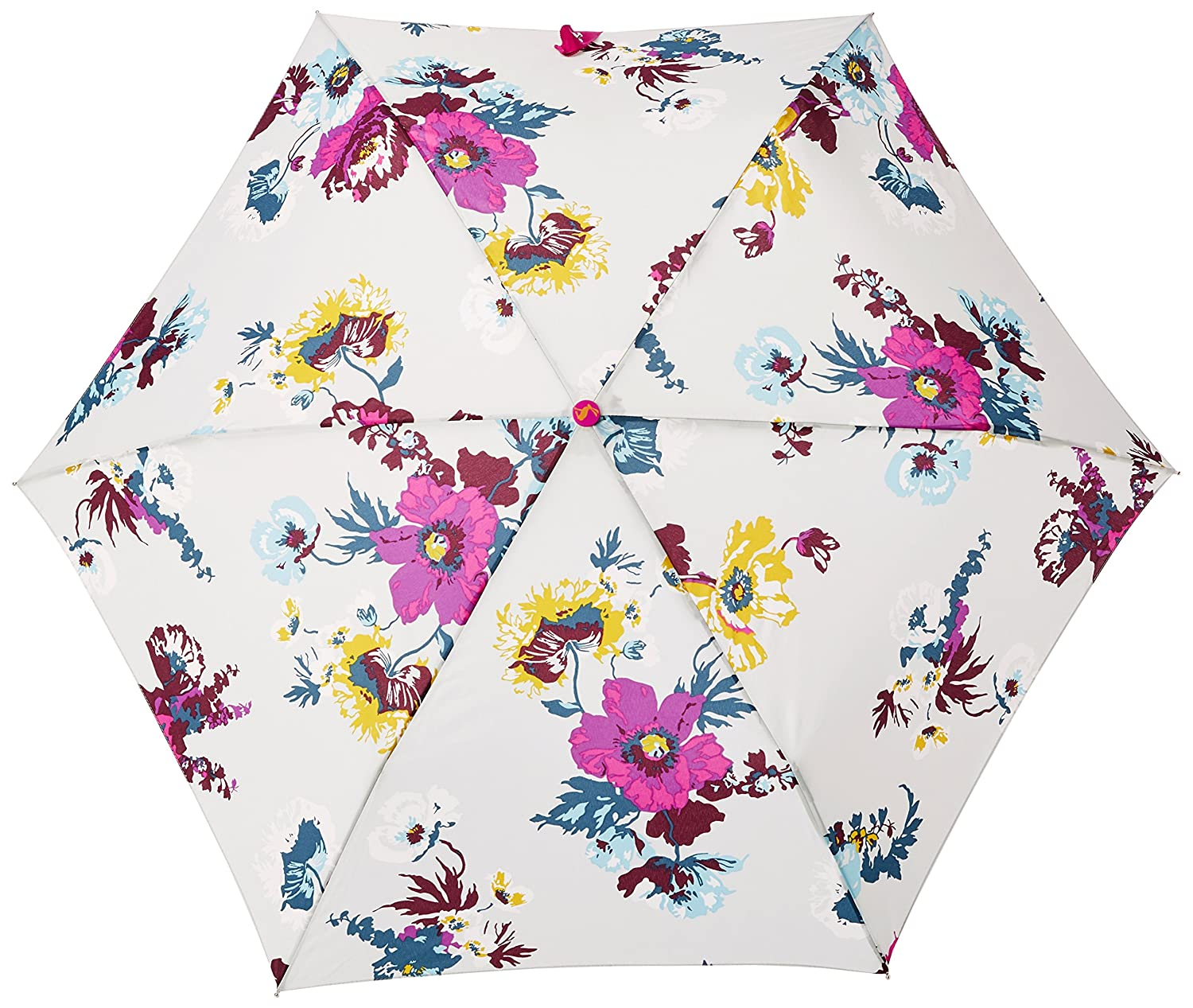Joules Womens Brolly Printed Umbrella silver posy One Size Joules Outerwear X BROLLY