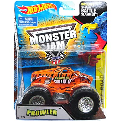 2015 - #24 Prowler W2398 - Inclus Slammer de bataille Snap-On - Hot Wheels - Monster Jam - Véhicule Truck miniature 1:64