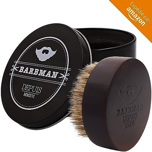5 opinioni per BARBMAN: spazzola da barba in legno e setole di cinghiale naturali, permette