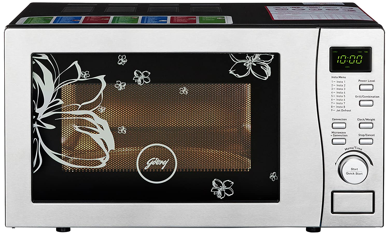 Godrej 19 L Convection Microwave Oven (GMX 519 CP1, White Rose): Amazon.in:  Home & Kitchen