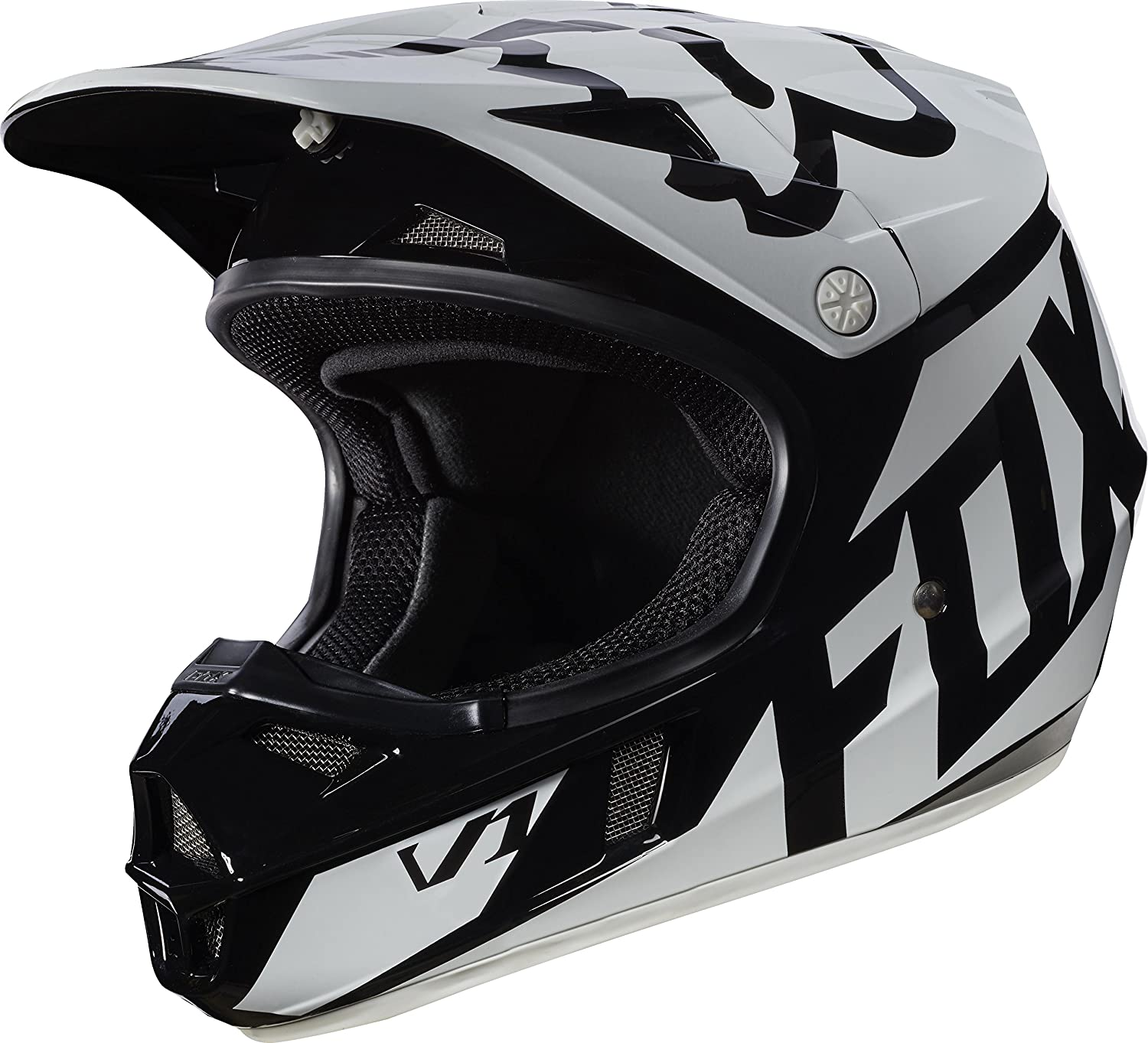 T2017 Fox Racing V1 Race Helmet - Youth/Kids Medium - Black COMINU072521
