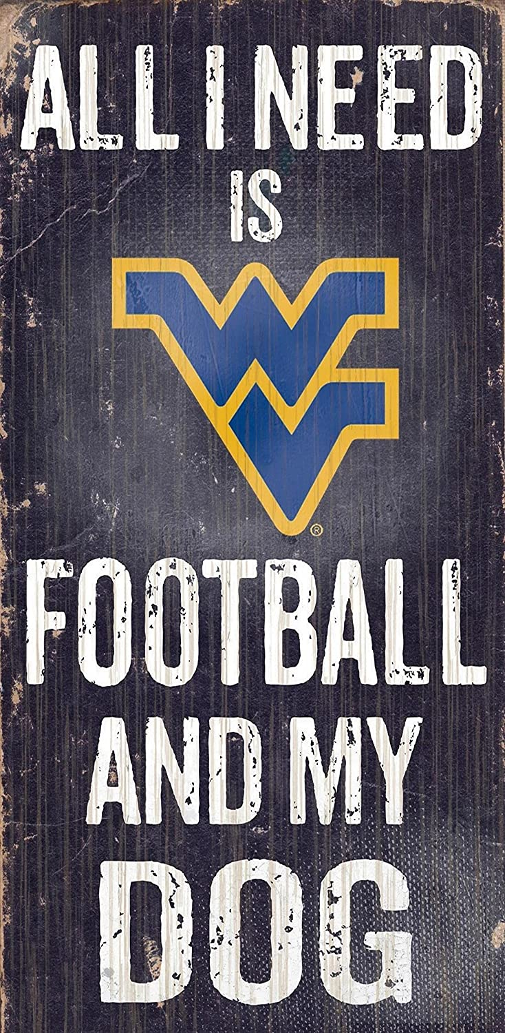 Fan Creations Dog Sign West Virginia University Football, Multicolored
