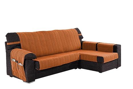 Martina Home Ribera Cubre Chaise Longue, Brazo Derecho, Tela, Naranja, 240 CM