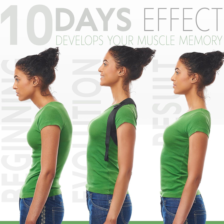 "Posture Corrector for Women Men - Posture Brace - Adjustable Back Straightener - Discreet Back Brace for Upper Back - Comfortable Posture Trainer for Spinal Alignment (25"" - 53""): Industrial & Scientific"