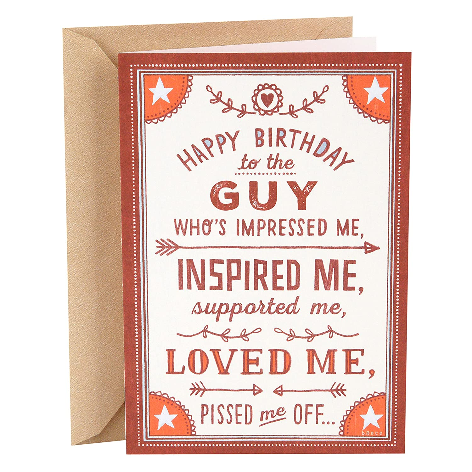 Amazon Hallmark Shoebox Funny Birthday Card For Husband Loved Me Office Products