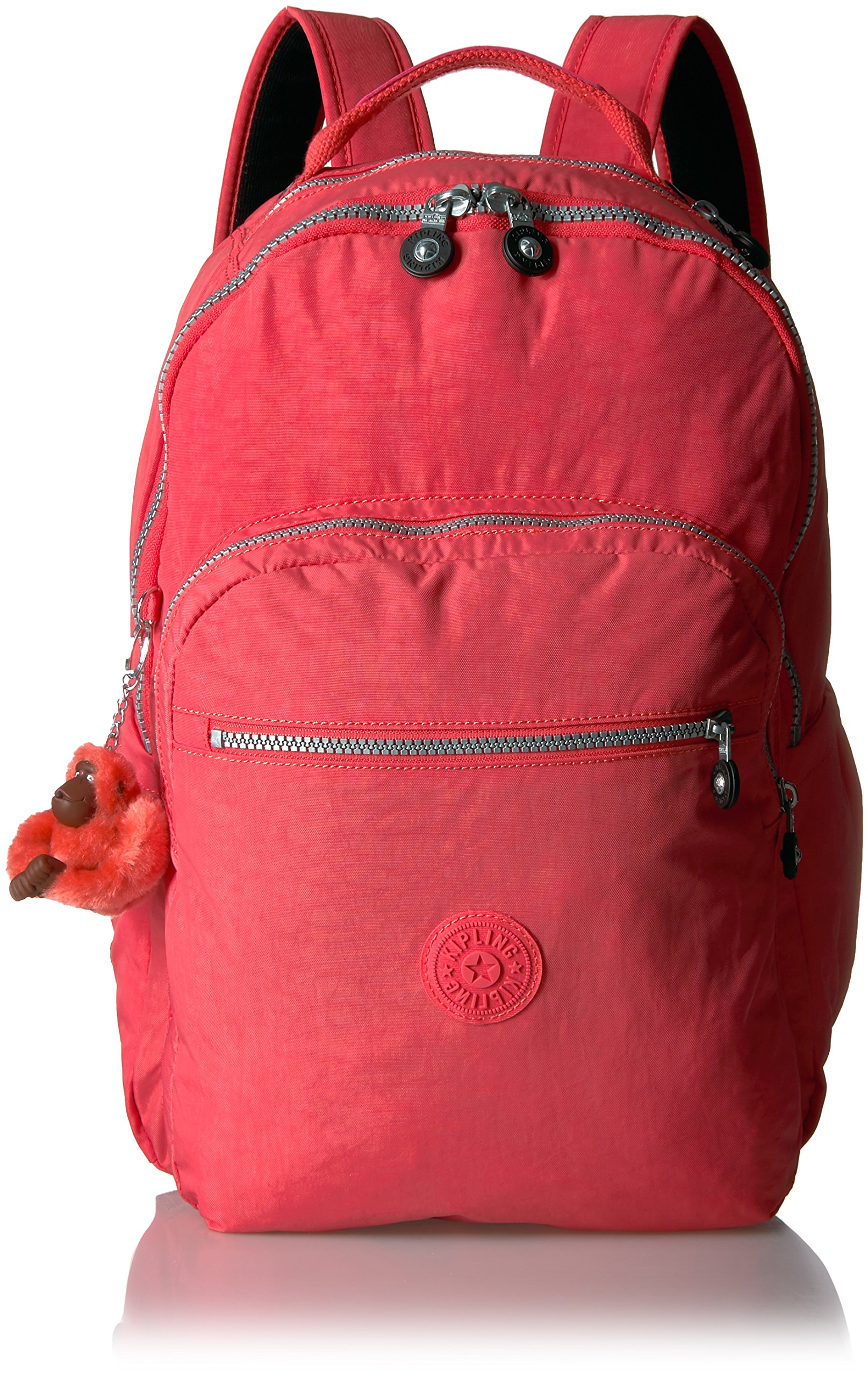 Seoul L Solid Laptop Backpack, Papaya
