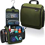 Hanging Travel Toiletry Bag for Men and Women – Large Cosmetics, Makeup and Toiletries Organizer Kit with 19…
