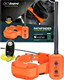 Dogtra Pathfinder Dog Remote Training and GPS Tracking Collar - 9 Mile Range, Sports Upland Hunting, Waterproof Receiver, Rechargeable, Static, Audible Tone, PetsTEK Trainer Clicker - Orange Edition