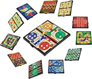 Magnetic Travel Board Games-Road Trip Entertainment, Checkers, Chess, Chinese Checkers, Tic Tac Toe, Backgammon, Snakes And