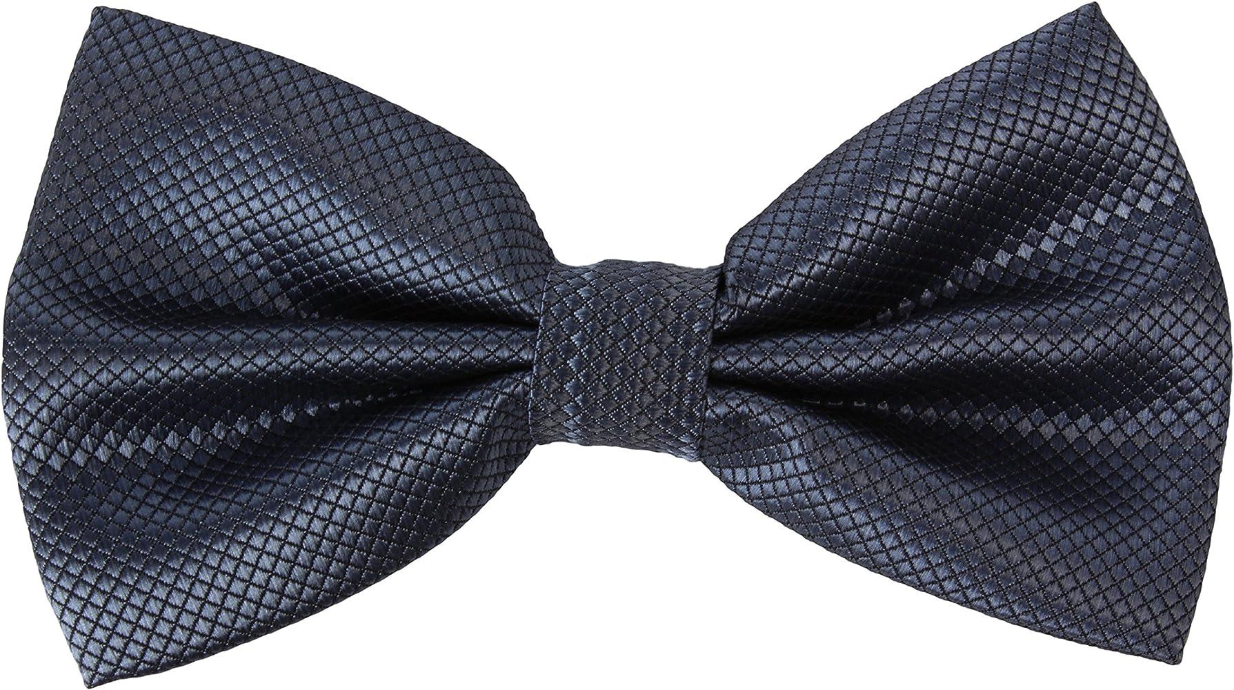 2Store24 Corbata de Lazo, Pajarita/cintas a cuadros en gris oscuro ...