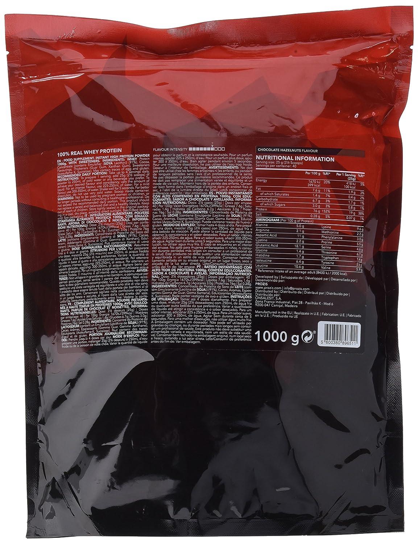 Prozis 100% Real Whey Protein 1000 g: Suplemento puro en polvo. Disfruta del batido con sabor a Fresa y Banana más delicioso del mercado.