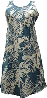product image for Paradise Found Womens Tropical Jungle Short Tank Dress Blue XS