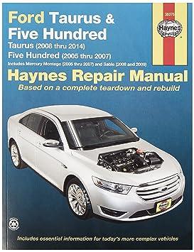 amazon com haynes 36076 ford taurus repair manual automotive rh amazon com 2005 Mercury Sable 2005 Mercury Sable