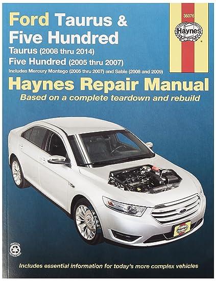 amazon com haynes 36076 ford taurus repair manual automotive rh amazon com 1996 Taurus Ford Taurus Sho V8