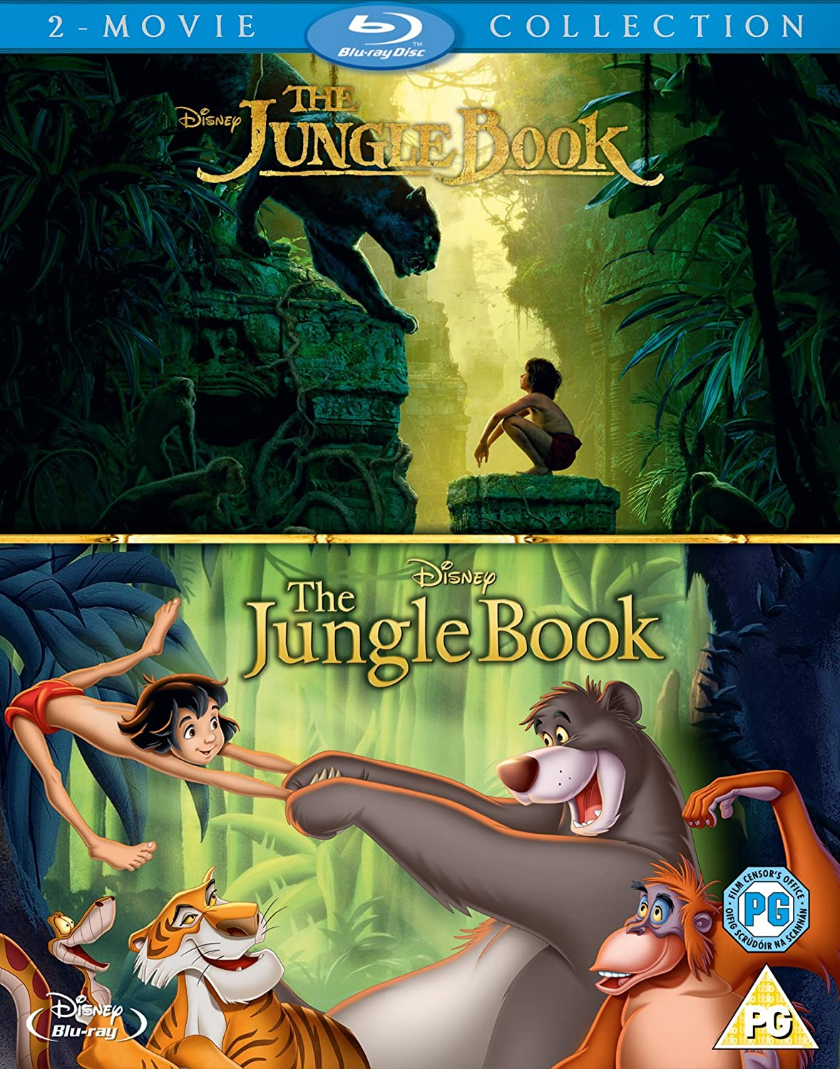 Amazon Com The Jungle Book Live Action And Animation Box Set Blu Ray Region Free Movies Tv