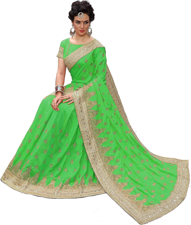 Nivah Fashion Saree en soie brod/ée avec chemisier pour femme K724