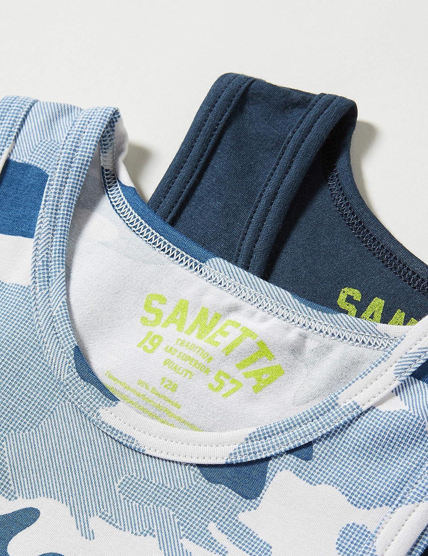 Sanetta Jungen Unterhemd Doppelpack Total Eclipse Unterw/äsche