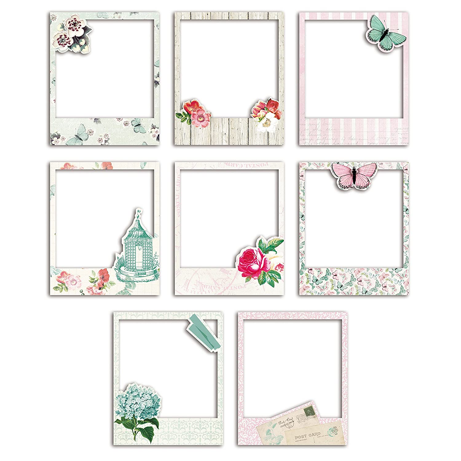 D.I.Y with Toga ax072 Shabby Love Surtido de 8 marcos Polaroid papel ...