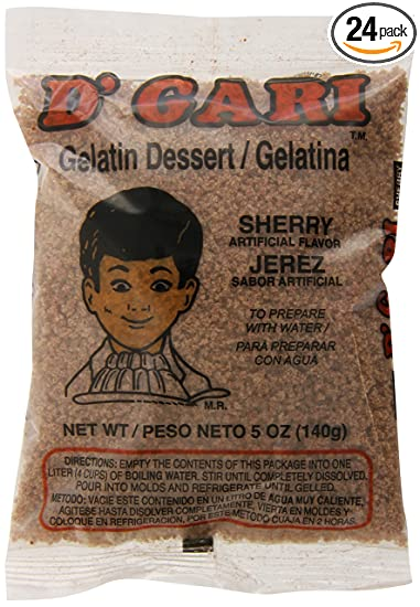 DGari Gelatin Dessert, Sherry, 5 Ounce (Pack of ...