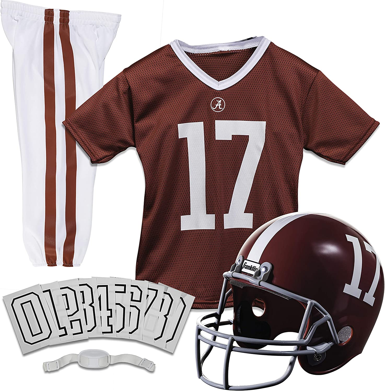 Franklin Sports NCAA Kids Football Uniform Set - NFL Youth Football Costume for Boys & Girls - Set Includes Helmet, Jersey & Pants