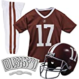 Franklin Sports NCAA Kids Football Uniform Set - NFL Youth Football Costume for Boys & Girls - Set Includes Helmet, Jersey &