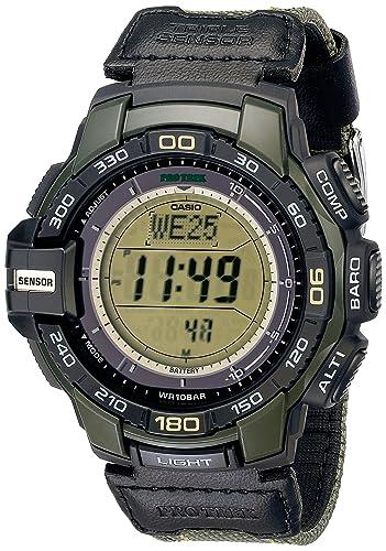Casio PRG-270B-3CR - Reloj para hombres, correa de nailon: Amazon.es: Relojes
