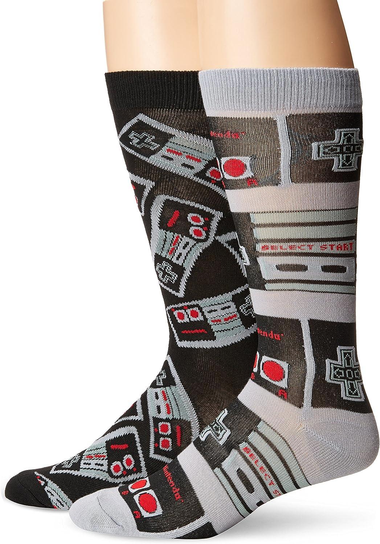 Nintendo Men's 2 Pack Crew Socks