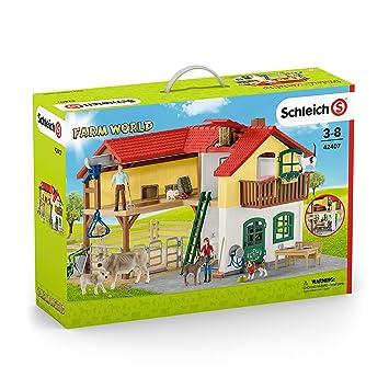 Schleich Farm World Spielset Heuförderband mit BauerSpielzeug ab 3 Jahre Kleinkindspielzeug