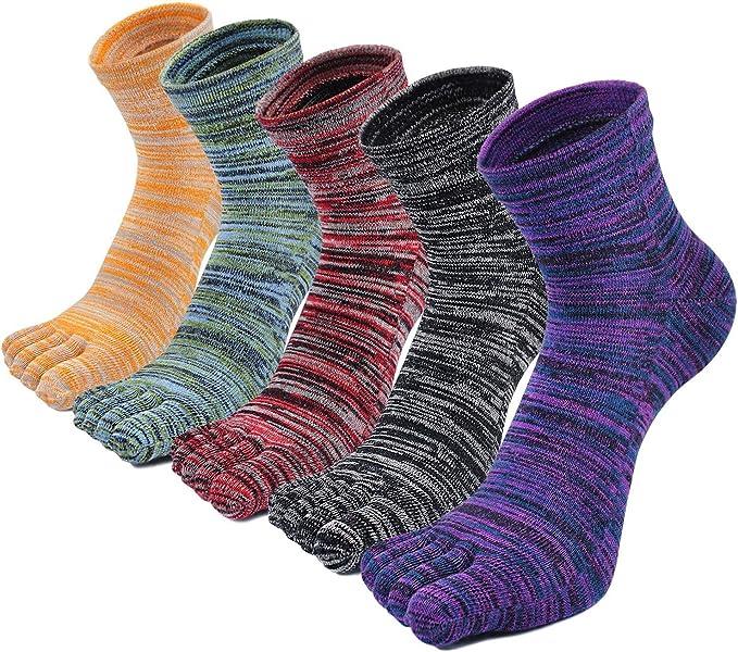 PUTUO Calcetines Dedos Hombres Calcetines de Deportes de Algodón, Hombres Cinco Calcetines del dedo del pie, 3/4/5 pares: Amazon.es: Ropa y accesorios