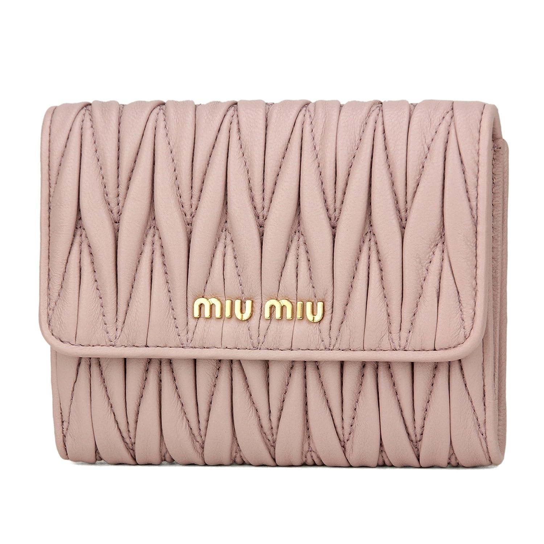 ミュウミュウ(MIU MIU) 2つ折り財布 5MH523 2BPU F010F マテラッセ ペールピンク [並行輸入品] B079C8YBBT