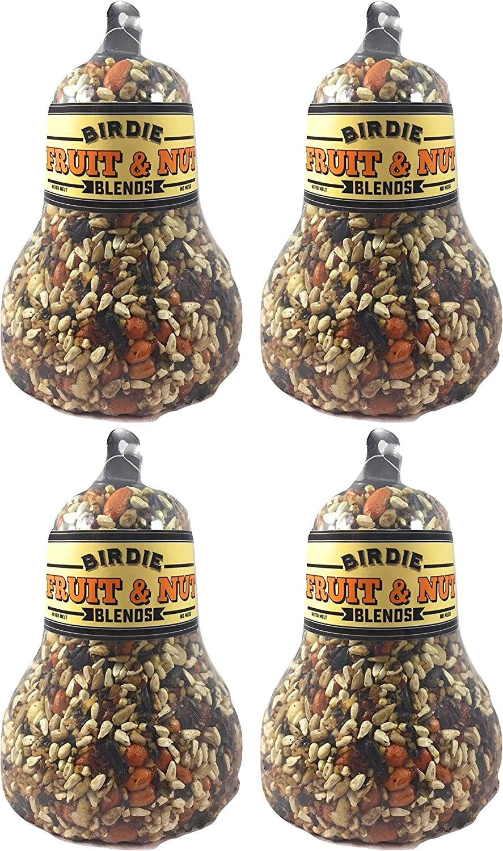 Birdie Blends Fruit & Nut Bird Seed Bell for Wild Birds (4)
