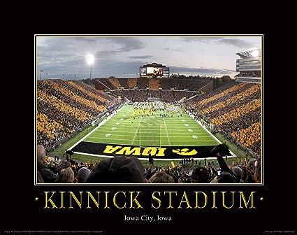 Iowa Hawkeye Football Motivational Poster Art Print 11x14 Nile Kinnick Stadium Herky