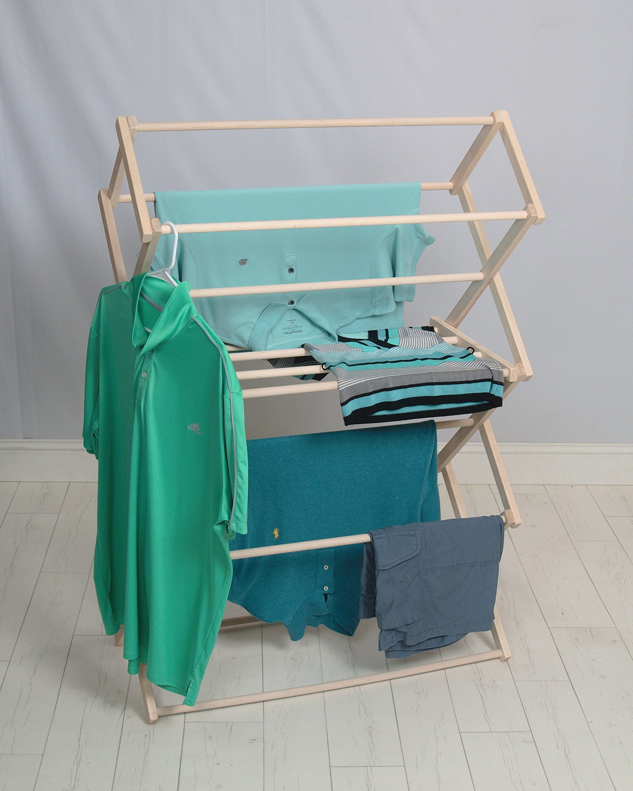 Pennsylvania Woodworks Clothes Drying Rack (Made in the USA) Heavy Duty 100% Hardwood (Large) by Pennsylvania Woodworks (Image #4)