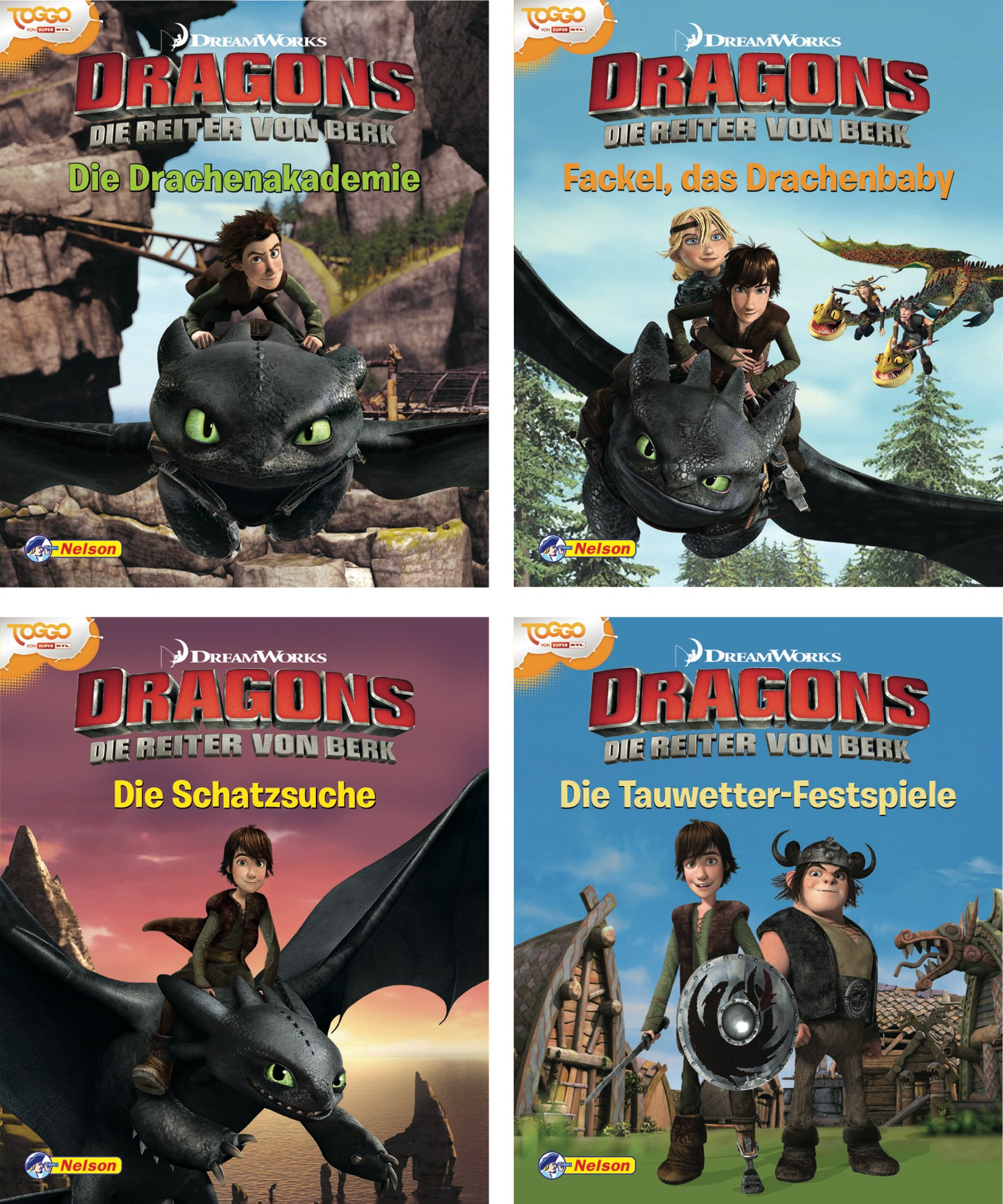 nelson-mini-bcher-4er-dreamworks-dragons-1-4