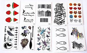 Wolga creativos Tattoo Juego 10 arco como Principal de melón Zebra ...