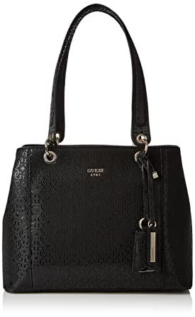 586317b8b5b0 GUESS Women s Kamryn Gold-Tone Logo Embossed Shopper Tote  Handbags   Amazon.com
