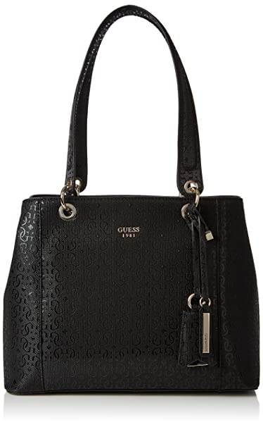 ce30a60d945 GUESS Kamryn G-Shine Shopper Bla, Black, One Size: Amazon.ca ...