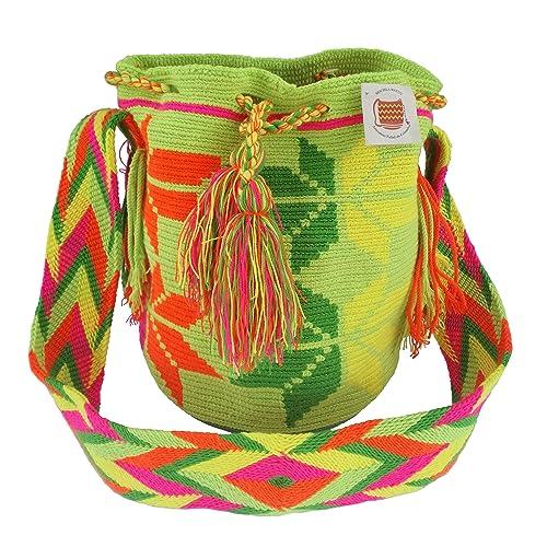 Auténtica Mochila Wayuu original de la Guajira Colombia: Amazon.es: Zapatos y complementos