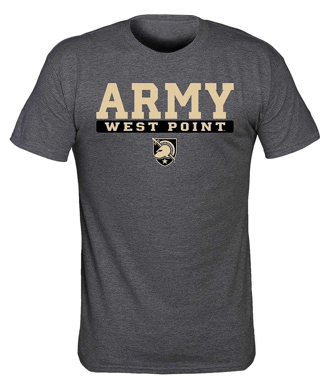 Old Varsity Brand NCAA Army Black Knights Mens NCAA Screenprinted Poly Cotton Blend Tee Dark Heather X Large