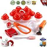 Egg Cooker holder set of 7 Accessories Non-Stick Silicone Hard Boiled and 8 Egg Cups In Silicone 1 Separators Oil Brush, Egg Poacher Cooker Support to prevent tumbling AS Seen on TV