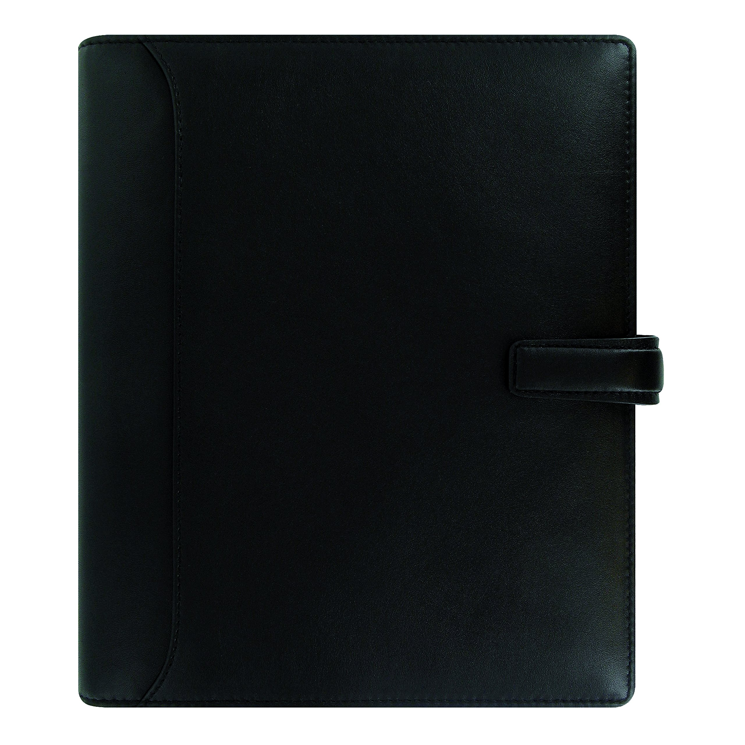 Filofax 2018 A5 Nappa Organizer, Leather, Black, Paper Size 8.25 x 5.75 inches (C025137-18)