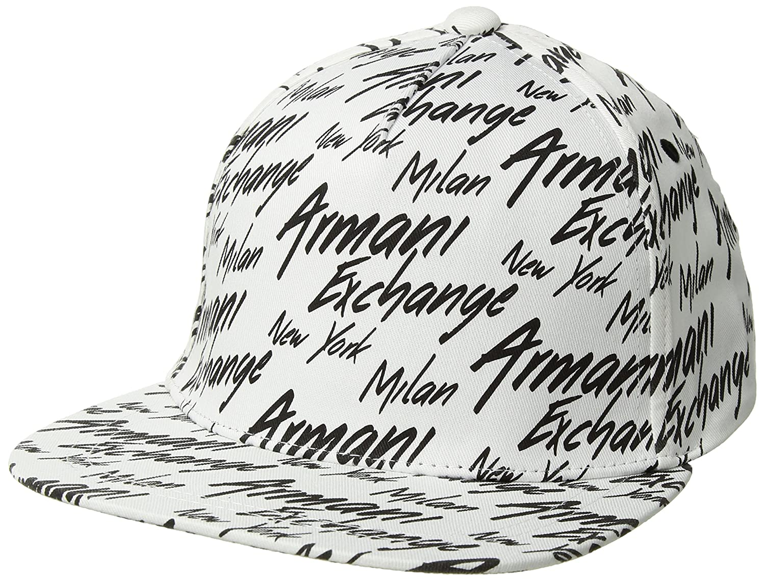 35565ecfdde Amazon.com  Armani Exchange Men s All Over Logo Cap