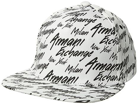 d1c657923d3 Amazon.com  Armani Exchange Men s All Over Logo Cap