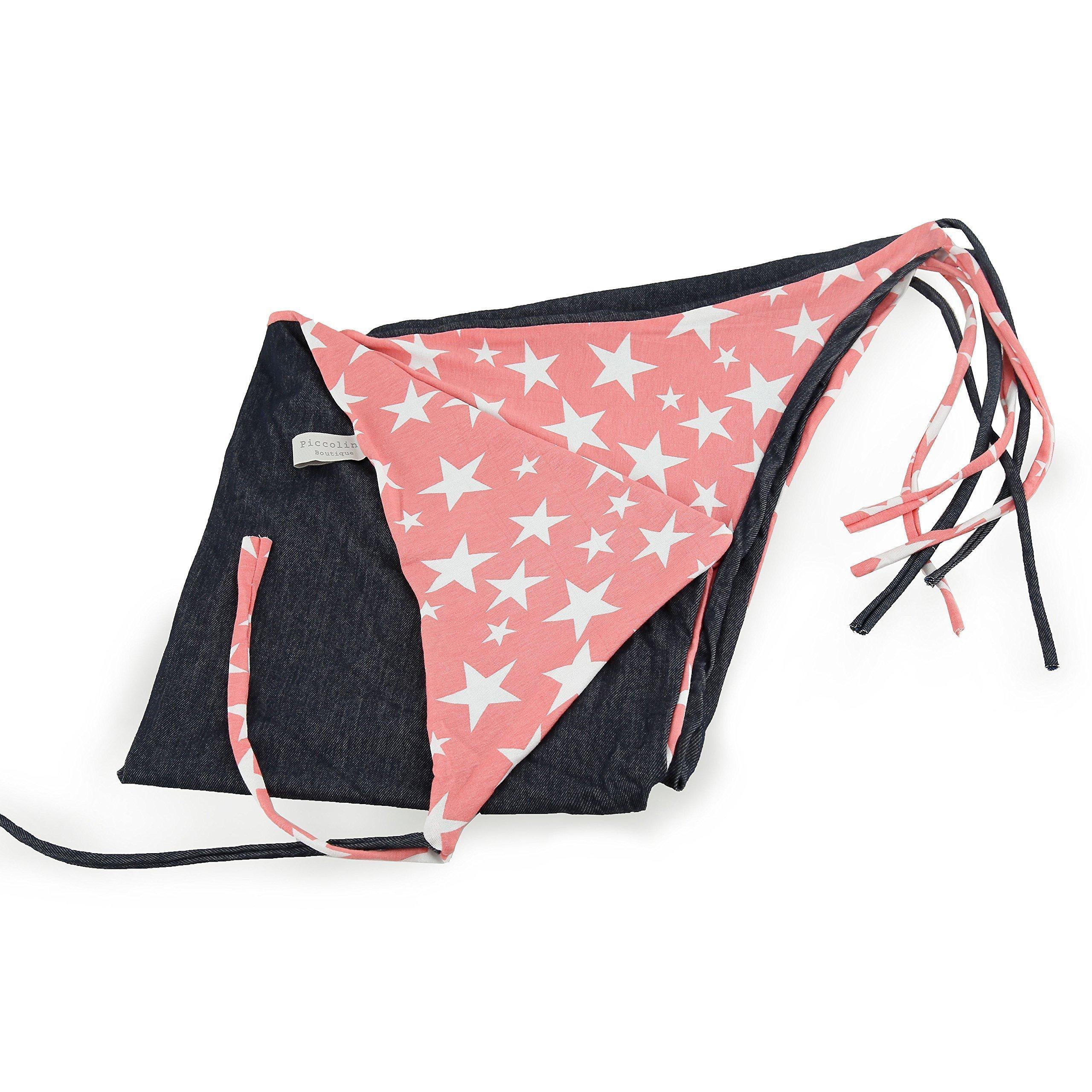 TWO-SIDED BABY BLANKET-STARS/Multifunctions:Baby tent,picnic blanket,nursing cover,stroller blanket