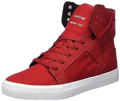 Supra Unisex-Kinder Skytop Sneaker, Rot (Red/White), 36.5 EU