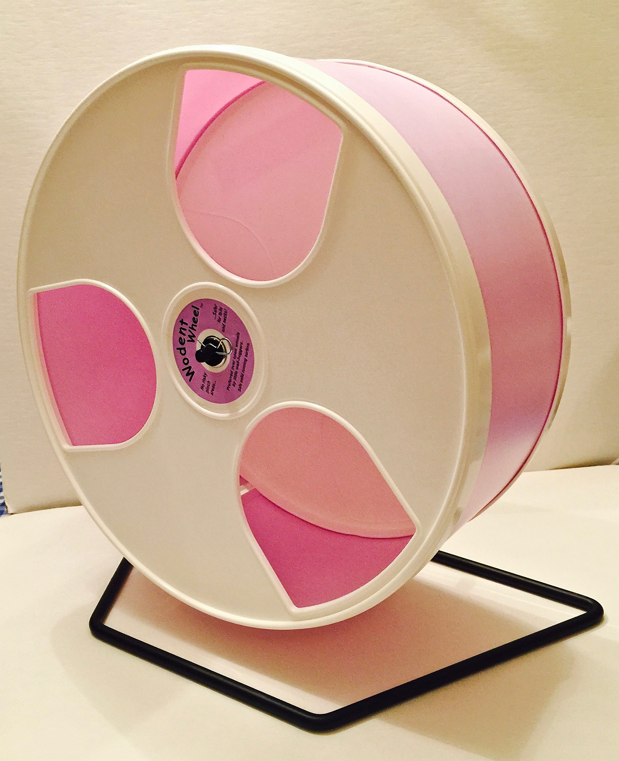 12'' DIAMETER HEDGEHOG WODENT WHEEL WITH WIDE TRACK-LAVENDER WITH WHITE PANELS