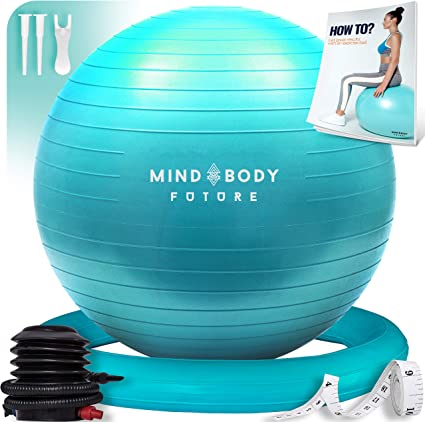 Mind Body Future Pelota Suiza o Gym Ball Bola para Pilates, Yoga ...