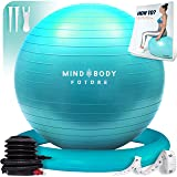 Yoga Ball Chair (55cm, 65cm & 75cm) - Exercise Ball & Stability Ring. For Pregnancy, Balance, Pilates or Birthing…