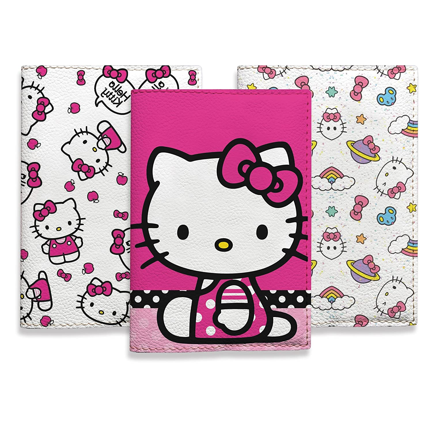 Kitty passport covers for women and girls travel ID holder eco leather