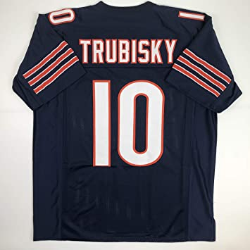 the best attitude 65edc 69c9c Unsigned Mitchell Trubisky Chicago Blue Custom Stitched Football Jersey  Size XL New No Brands/Logos